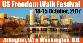 US Freedom Walk Festival, Arlington VA and Washington DC, 13-15 October 2017