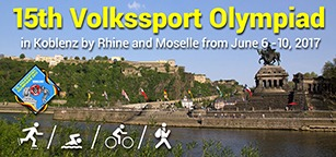 15th Volkssport Olympiad, Koblenz, Germany, June 6-10 2017