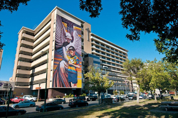 Jesse Trevino Mural on the Santa Rosa Children's Hospital